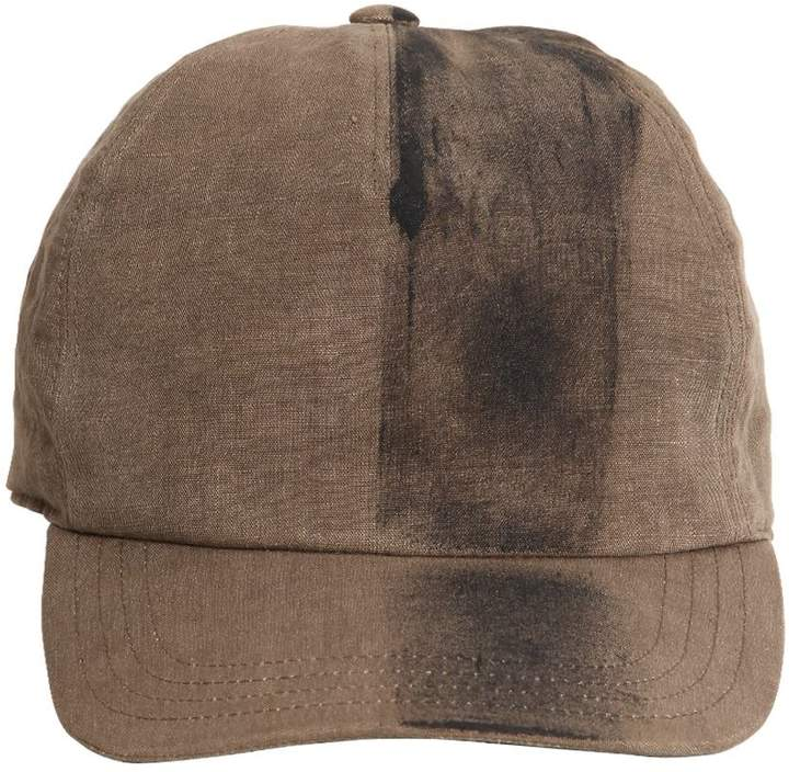 Isabel Benenato Hand-Painted Cotton Canvas Hat
