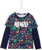 Kenzo printed layered T-shirt