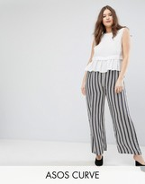 Asos Mix and Match Jumpsuit with Wide Leg and Peplum