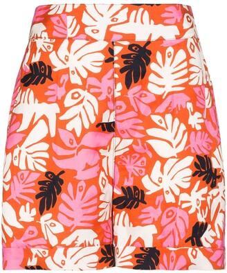 Marni Floral Print High-Waisted Shorts