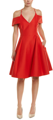 Halston Silk-Blend A-Line Dress