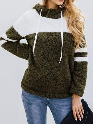 Goodnight Macaroon 'Elaine' Bicolor Fleece Hooded Pullover (2 Colors)