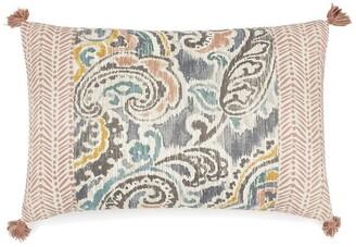 Waverly Artisanal Oblong Pieced Reversible Decorative Accessory Pillow