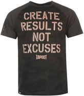 Tapout Mens Results T Shirt Tee Top Crew Neck Short Sleeve Cotton Regular Fit