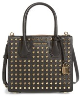 MICHAEL Michael Kors Medium Mercer Studded Leather Tote - Black