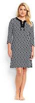 Classic Women's Plus Size Lace Up Swim Cover-up Dress-Black Geo Max Link
