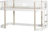 OLIVER FURNITURE Mid-High Oak Loft Bed 90x200cm