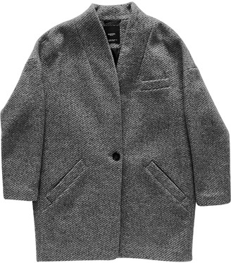 MANGO Grey Wool Coat for Women