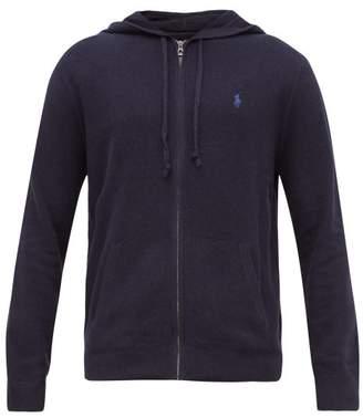 Polo Ralph Lauren Logo Embroidered Zip Through Hooded Sweatshirt - Mens - Navy