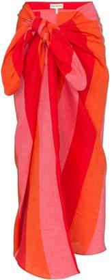 Mara Hoffman Izzi striped wrap skirt