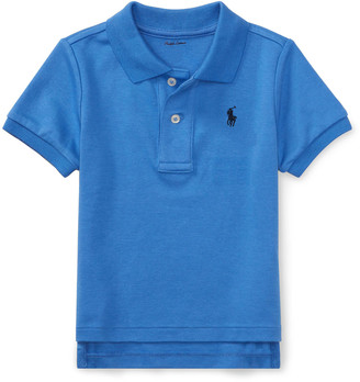 Ralph Lauren Kids Interlock Polo Knit Shirt, Size 3-24 Months