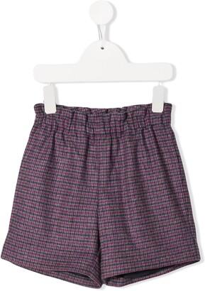 Bonpoint Checked Pattern Shorts
