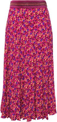 Anna Sui Floral-print Crepe Midi Skirt