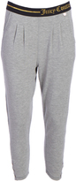 Juicy Couture Heather Gray Logo Easy-Fit Crop Pants