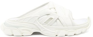 Balenciaga Track Layered Neoprene And Rubber Slides - White