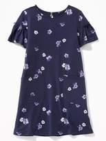 Old Navy Patterned Pocket Tee Dress for Girls