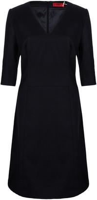HUGO BOSS by Black Wool Dress L