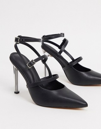 ASOS DESIGN Professor pointed high heels in black