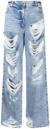 Patrizia Pepe Relaxed-Fit Distressed Jeans