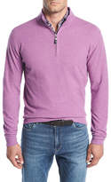 Peter Millar Melange Fleece Quarter-Zip Sweatshirt