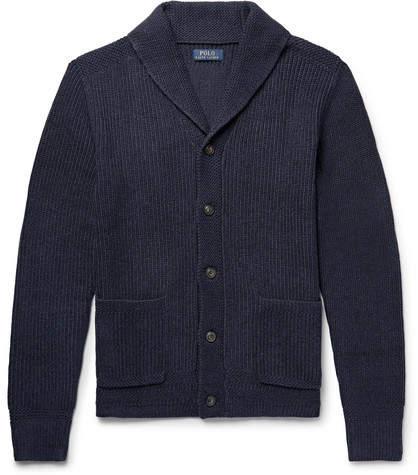 Polo Ralph Lauren Shawl-Collar Ribbed Cotton Cardigan