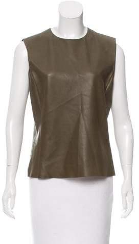 Celine Leather Sleeveless Top