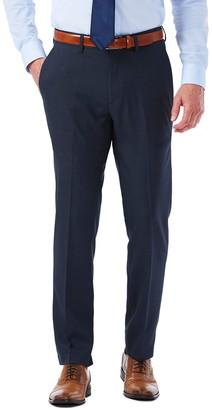 Haggar Men's Slim-Fit Stretch Melange Gabardine Flat-Front Suit Pants