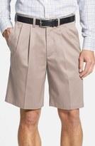 Nordstrom Men's Smartcare(TM) Pleated Shorts