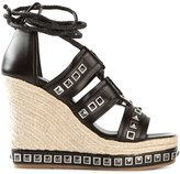 Alexander McQueen studded wedge sandals - women - Leather/rubber - 39