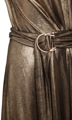 Maria Lucia Hohan Zaila Metallic Jersey Midi Dress