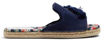 Christian Louboutin Pacha Tasseled Espadrille Slides - Womens - Blue Multi