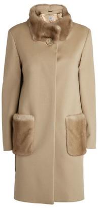 Cinzia Rocca Fur Trim Wool Coat