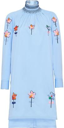 Prada Embroidered Midi Dress