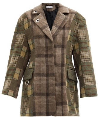 Rave Review - Single-breasted Checked Deadstock-wool Blazer - Khaki Multi