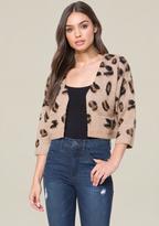 Bebe Brushed Leopard Cardigan