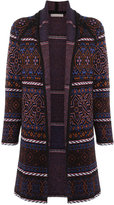 Cecilia Prado knitted coat - women - Acrylic/Lurex/Viscose - M