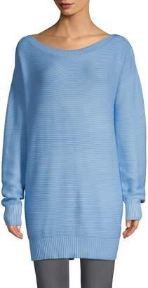 John & Jenn John + Jenn Textured Off-The-Shoulder Sweater Dress