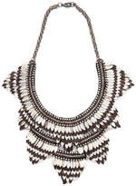 Deepa Gurnani Feather Bib Necklace