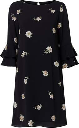 Wallis Black Floral Print Shift Dress
