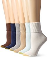 Gold Toe Women's Turn Cuff Sock (Pack of 6)