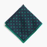 J.Crew English silk pocket square in polka dot