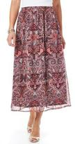 Tradition Women's Print Georgette Skirt