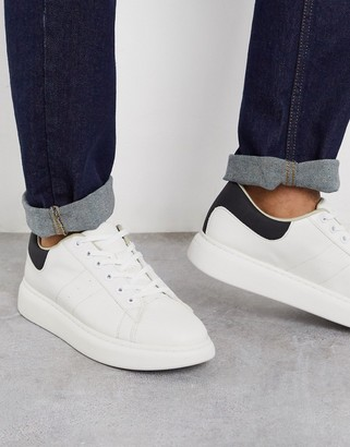 Jack and Jones trainers with chunky sole in white