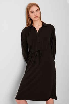 French Connection Moss Slinky Jersey Shirt Dress
