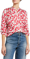 Equipment Nerine Floral Long-Sleeve Button-Down Top