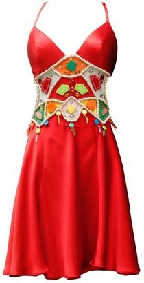 Jenny Packham Red Silk Dress for Women