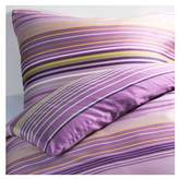 Ikea PALMLILJA Duvet covers lilac 2pc Twin Duvet Covers Stripe, Cotton Lyocell 207 TC
