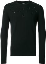 Les Hommes studded long-sleeve jumper