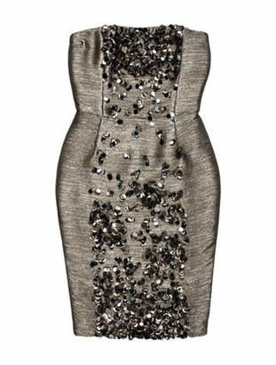 Oscar de la Renta 2010 Mini Dress Metallic