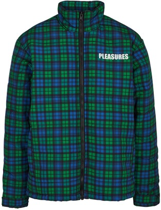 Pleasures Decades checked padded jacket
